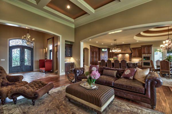 Изысканный интерьер гостинной в тосканском стиле