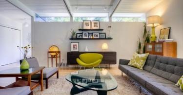 Предметы мебели в интерьере помещения