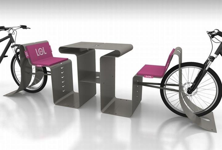 Уличная мебель с парковочными местами