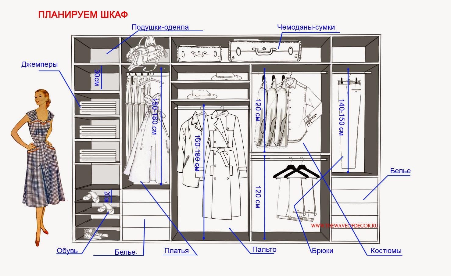 Эскиз планируемого шкафа