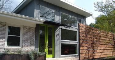 Стильный серый фасад дома