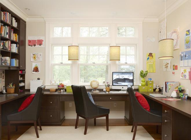 Настенные светильники в домашнем офисе