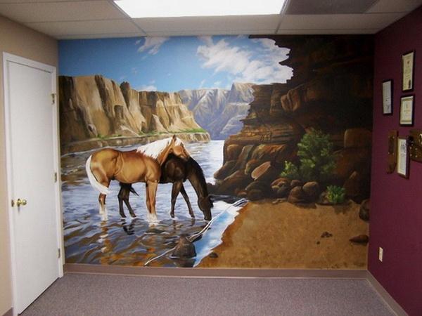 - Dipingere sui muri di casa ...