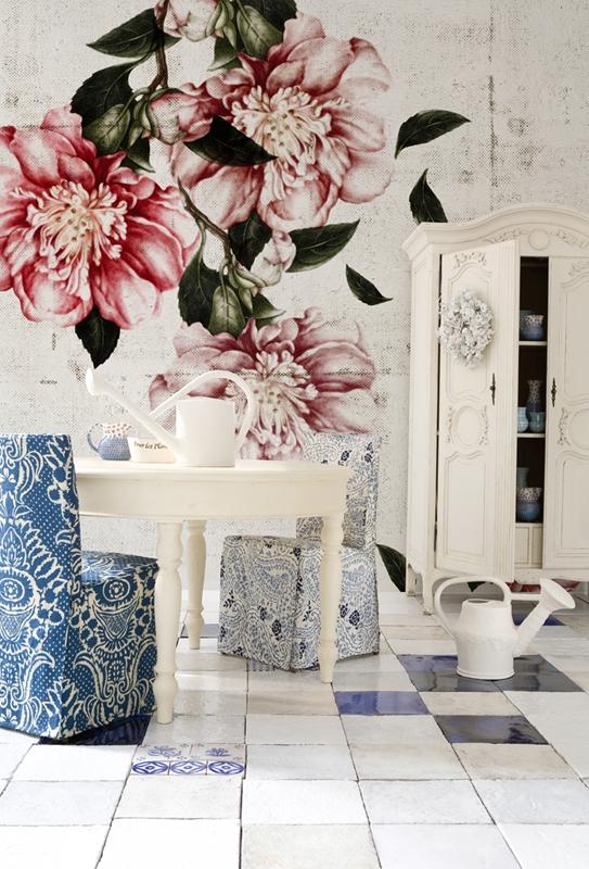 Красивые обои от Wall&Deco в интерьере помещения