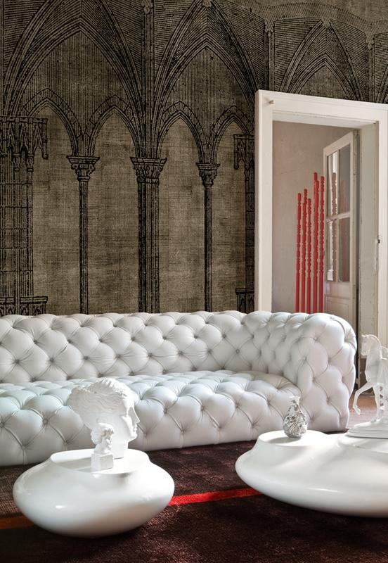 Яркие обои от Wall&Deco в интерьере помещения