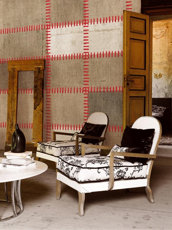 Роскошные обои от Wall&Deco в интерьере помещения