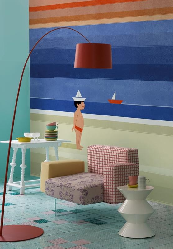 Креативные обои от Wall&Deco в интерьере помещения