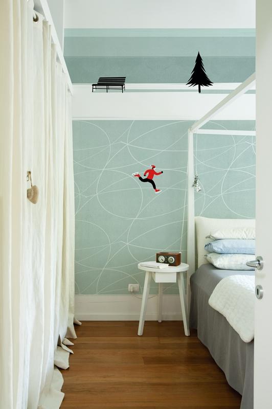 Изысканные обои от Wall&Deco в интерьере помещения