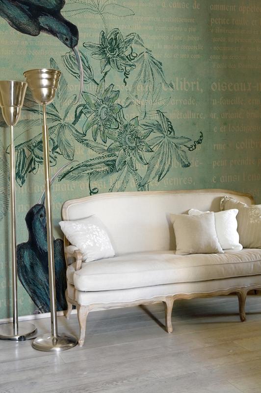 Бесподобные обои от Wall&Deco в интерьере помещения