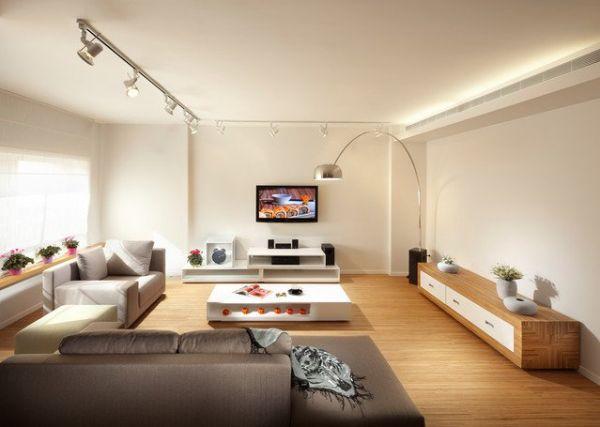 Гостиная с низкой мебелью
