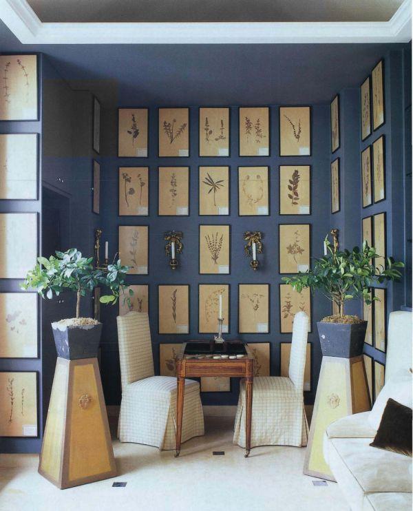 Элементы декора на стене в зоне отдыха