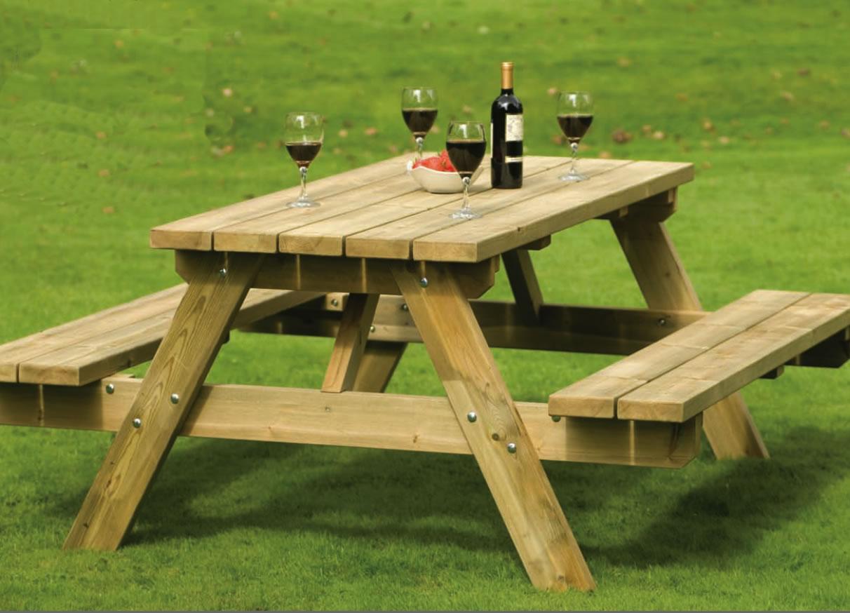 Как сделать стол из досок в лесу