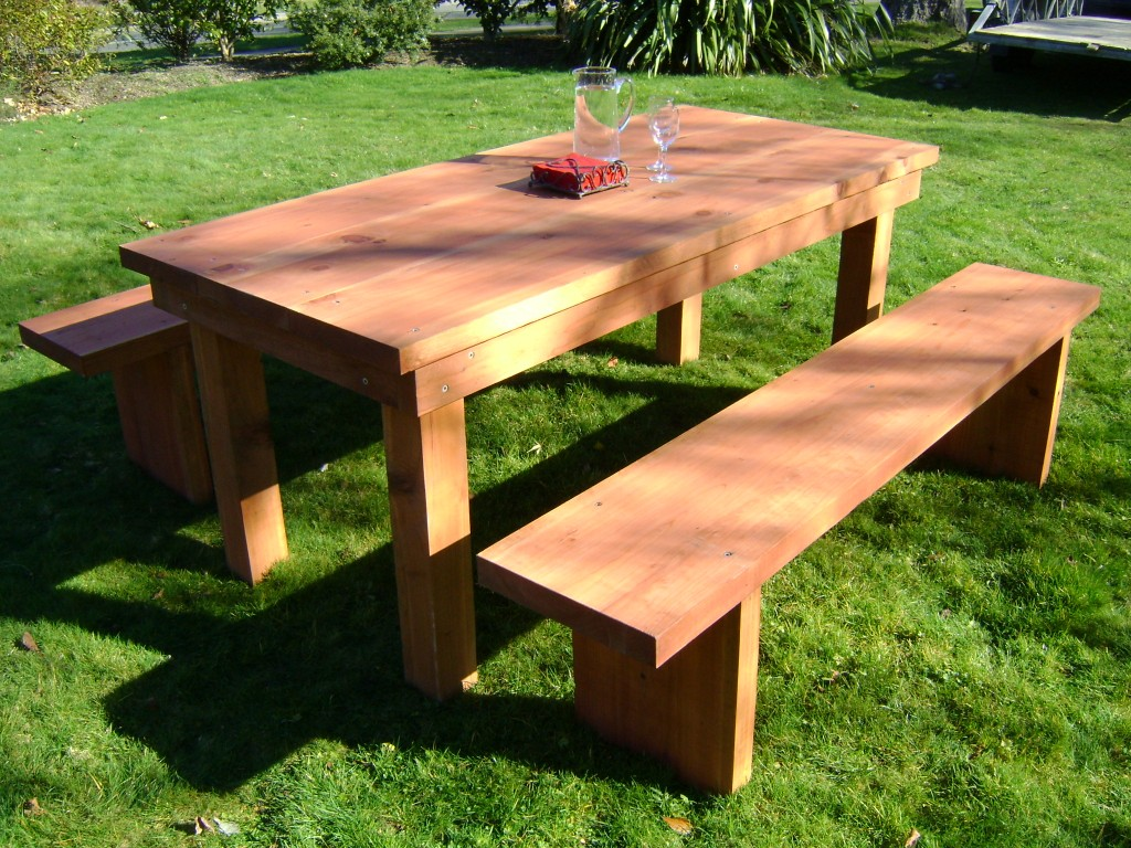 Стол и скамейки для дачи своими руками из дерева фото 3