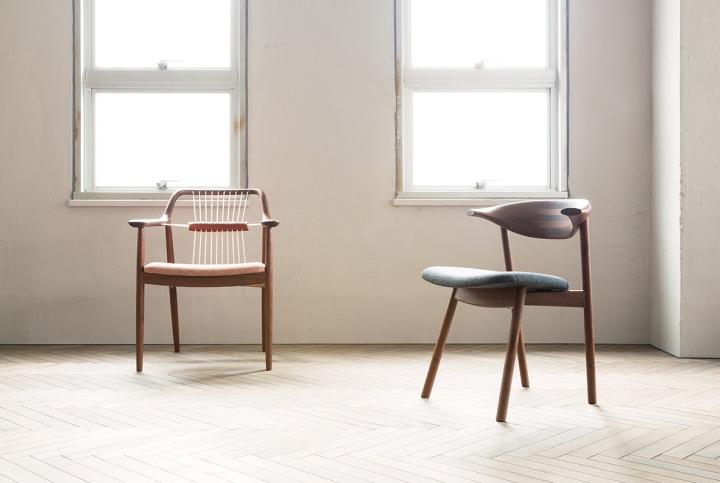 Яркие деревянные стулья Yamanami от дизайнера Mikiya Kobayashi