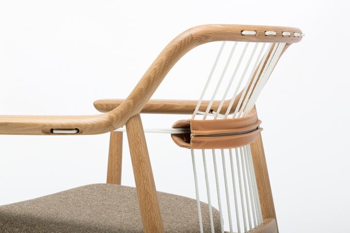 Очаровательный деревянный стул Yamanami от дизайнера Mikiya Kobayashi