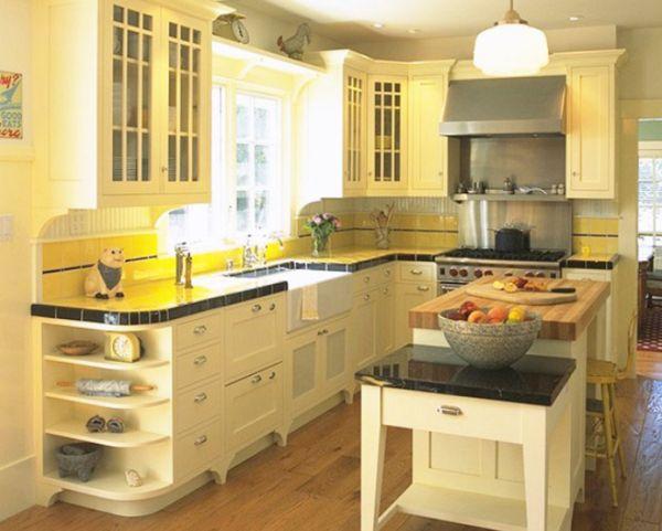 Золотистый акценты в интерьере кухни