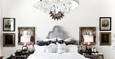 Зеркальная прикроватная тумба от Two Art Directors в интерьере спальной комнаты