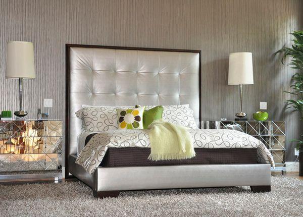 Необычная зеркальная прикроватная тумба от btdtdesign в интерьере спальной комнаты