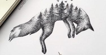 Альфред Баша: рисованные изображения гибридных животных из новой коллекции художникаАльфред Баша: рисованные изображения гибридных животных из новой коллекции художника