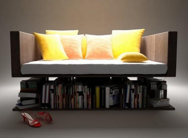 Красивая софа Rensa с полками для книг