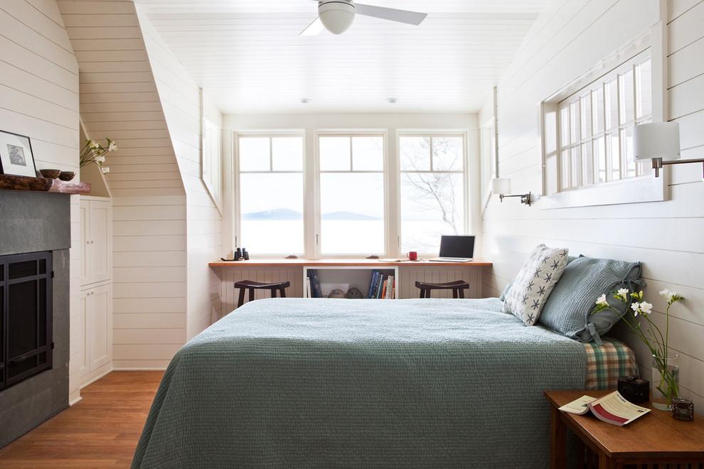 Креативное оформление спальни на чердаке