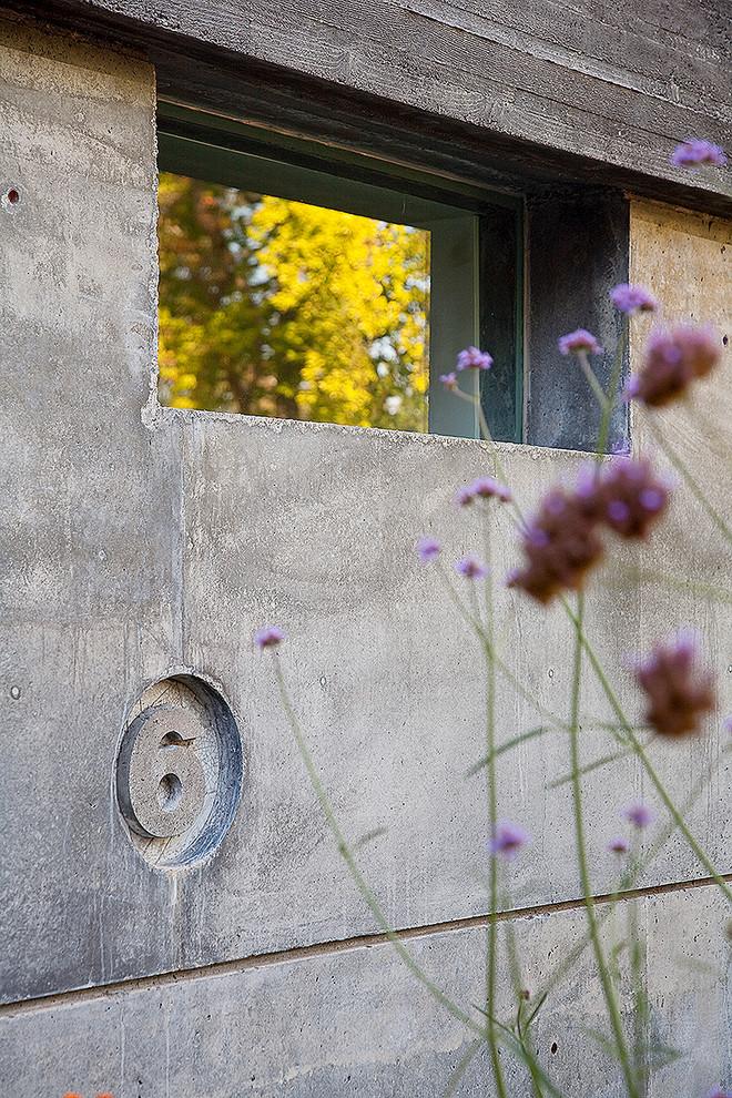 Бетонный фасад дома