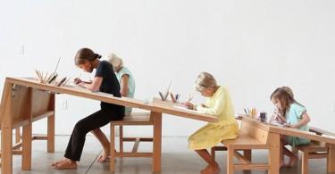 Концептуальный наклонный стол Growth от Тима Дарфи и Анны Рен
