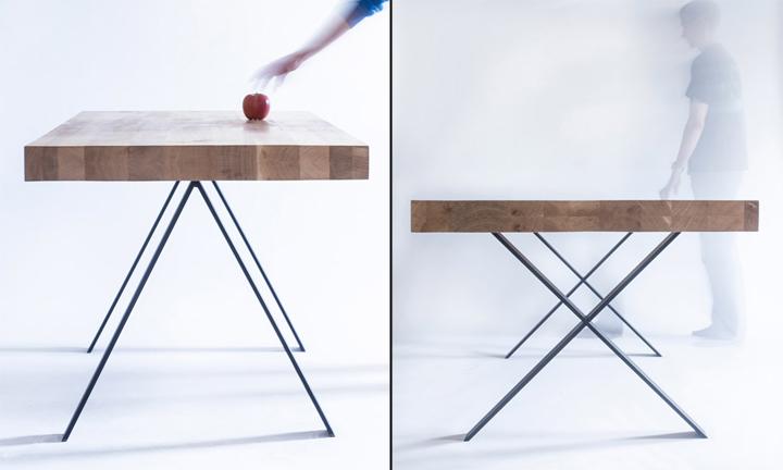 Яблоко на столе от студии 5mm