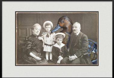 Аня Вюльфинг: сюрреалистические портреты людей с живописными интеграциями животных