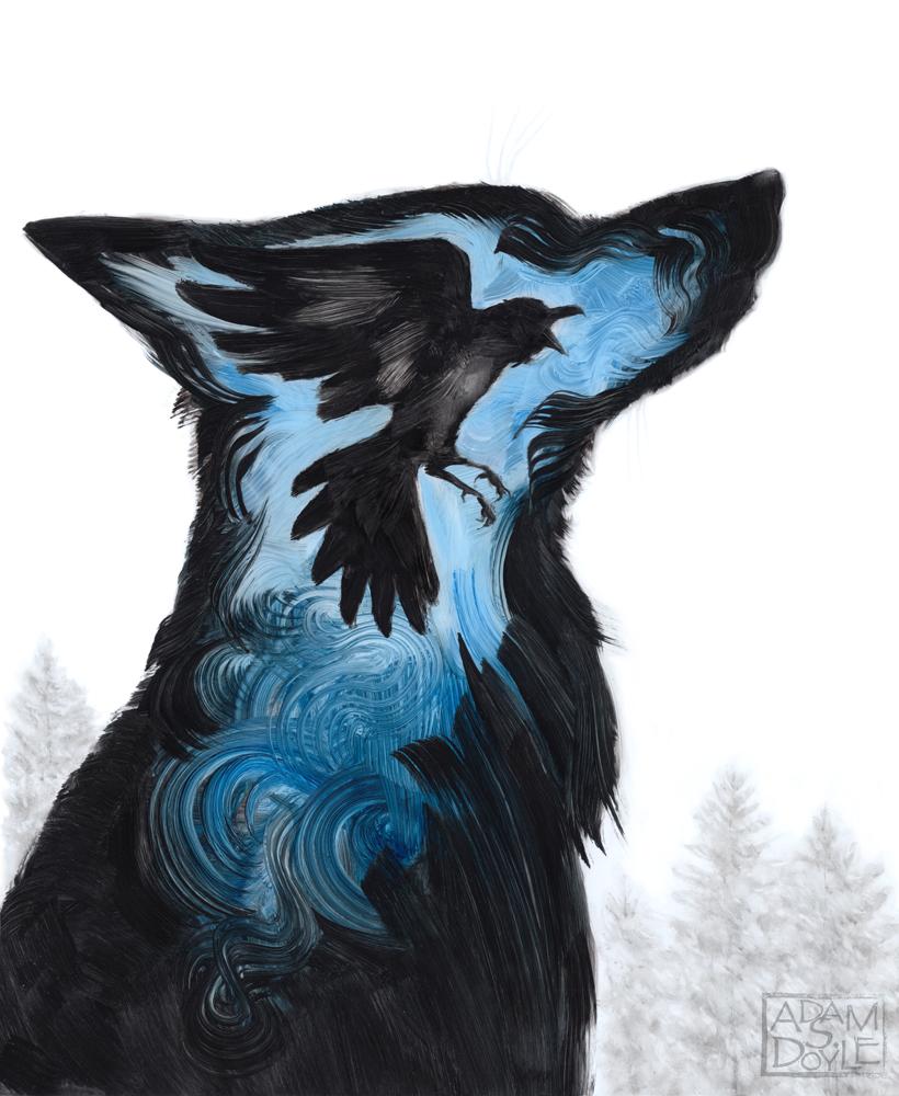 картинки волки с воронами нижней челюсти