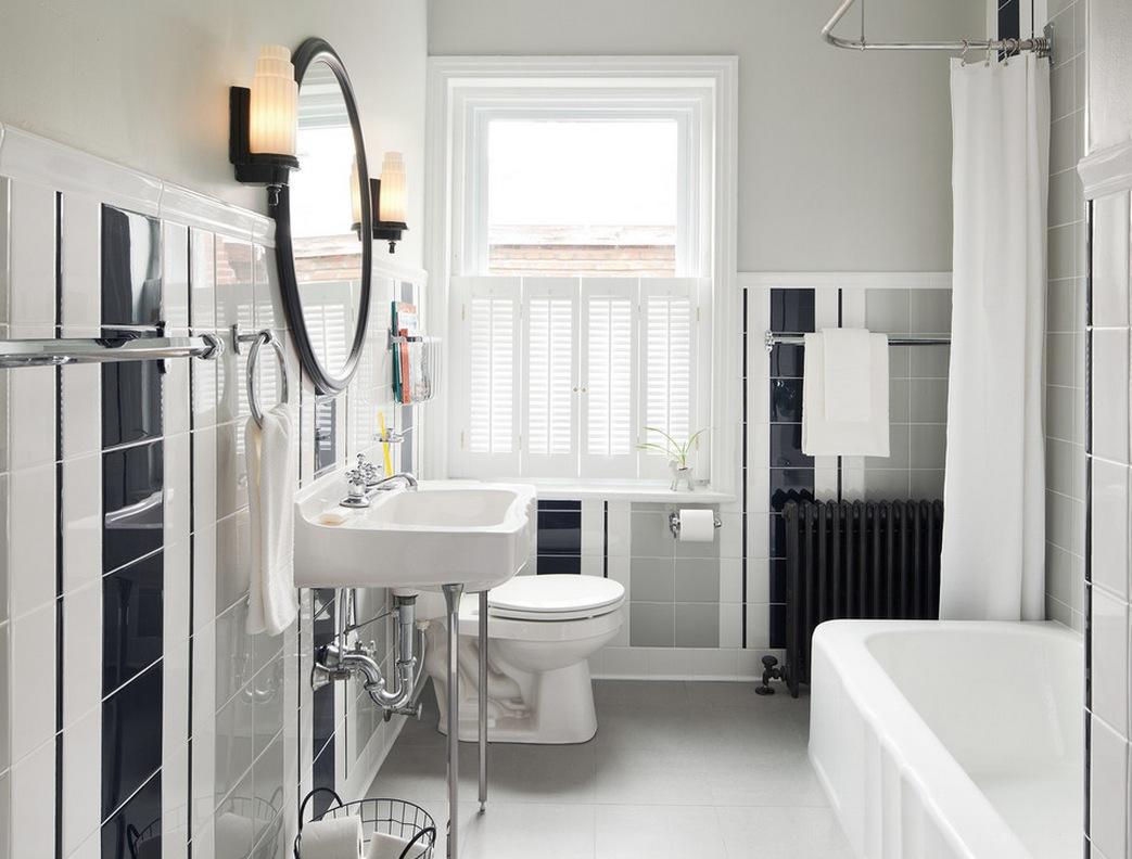 Интерьер ванной в ретро-стиле