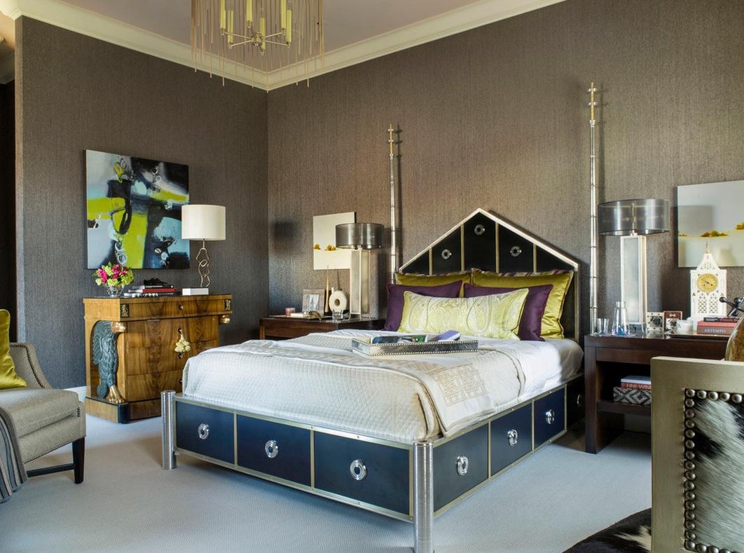 Интерьер спальни в ретро-стиле