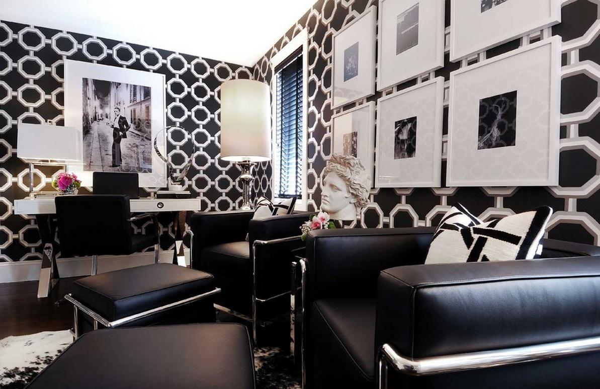 Интерьер кабинета в ретро-стиле
