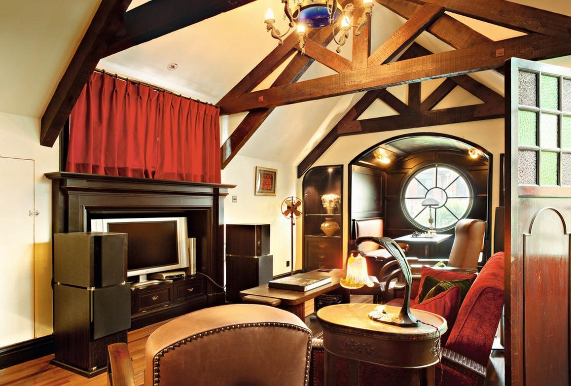 Интерьер гостиной в ретро-стиле