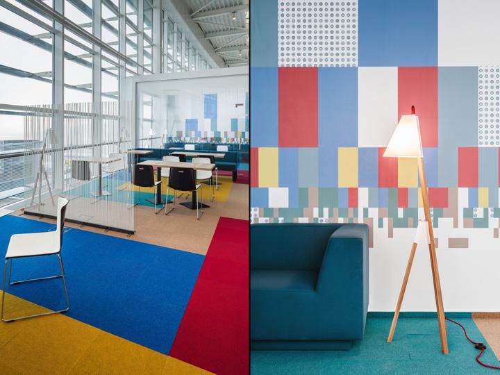 Дизайн зала ожидания аэропорта Henri Coanda в Бухаресте