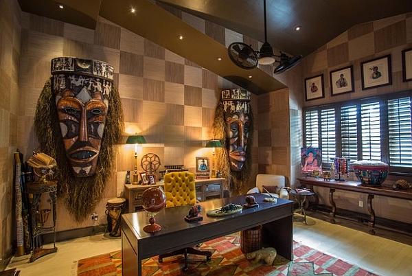 Головокружительный дизайн интерьера в этническом африканском стиле