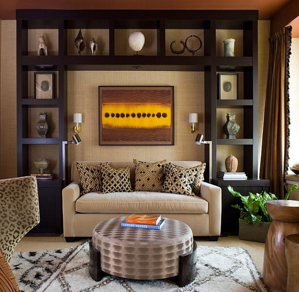 Красивый дизайн интерьера в этническом африканском стиле