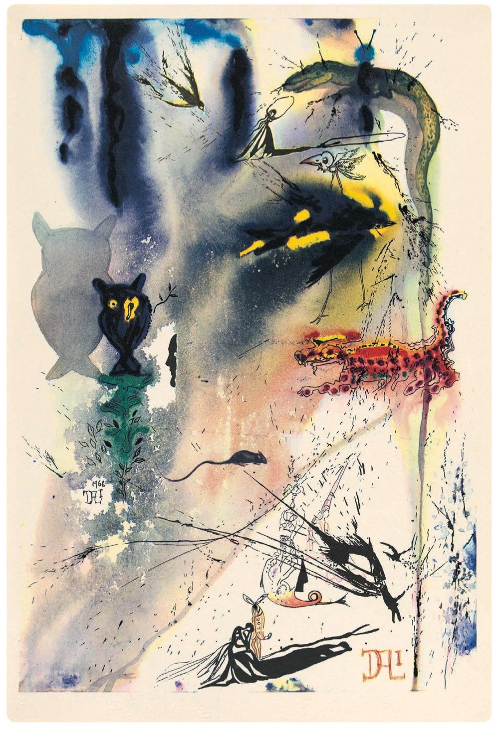 Иллюстрации Сальвадора Дали к книге Л. Кэрролла «Алиса в стране чудес»