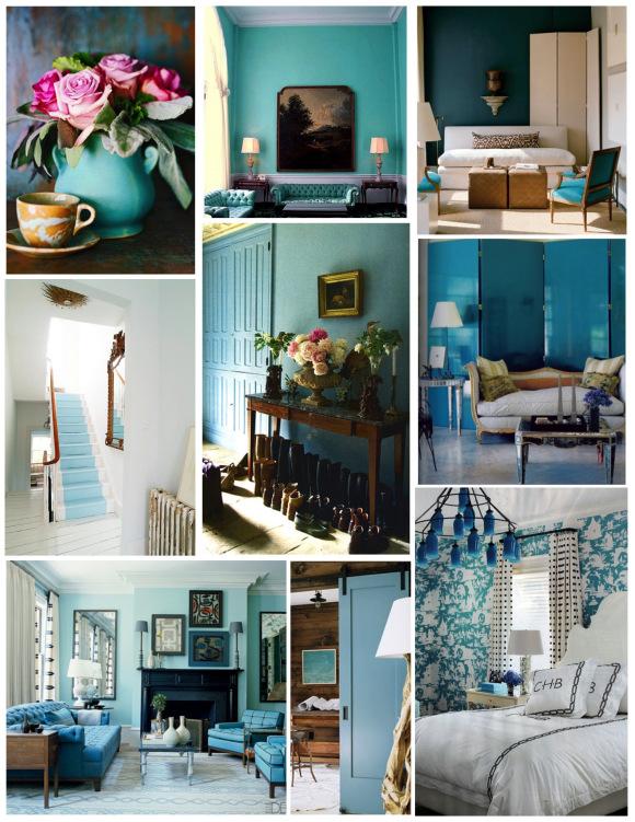 Идеи интерьеров в синих оттенках