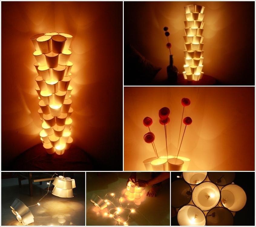 Необычный светильник из бумаги своими руками
