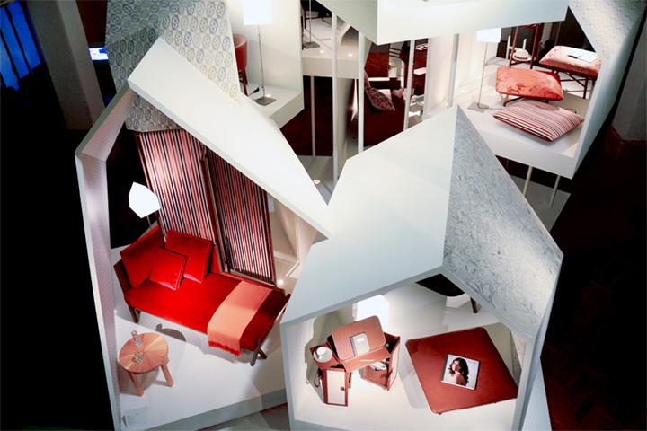 Прекрасный павильон из коллекции Les Necessaires d'Hermès с предметами интерьера
