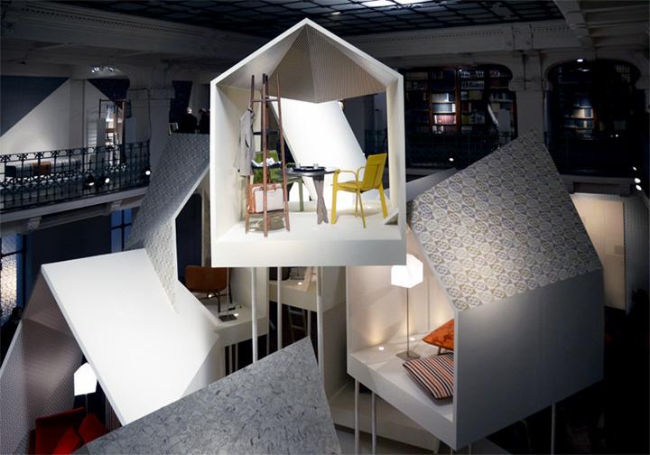 Удивительный павильон из коллекции Les Necessaires d'Hermès с предметами интерьера