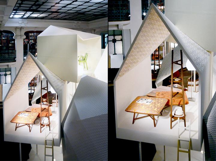 Бесподобный павильон из коллекции Les Necessaires d'Hermès с предметами интерьера