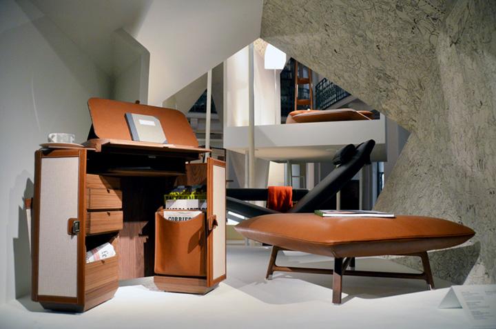 Роскошный павильон из коллекции Les Necessaires d'Hermès с предметами интерьера