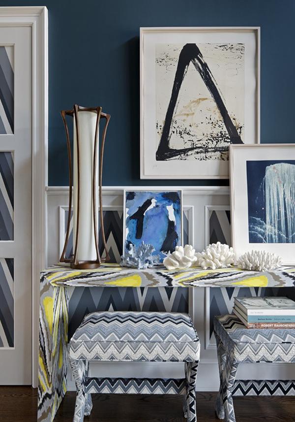 Узорчатая мебель в интерьере