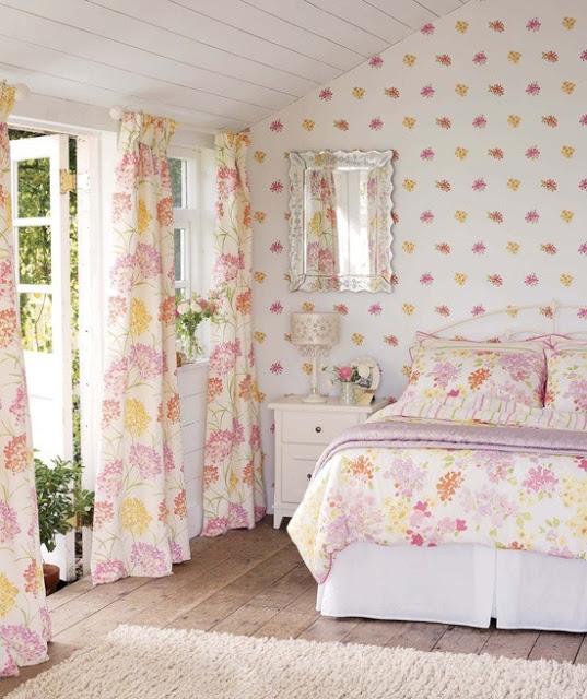 Интерьер спальни в английском стиле