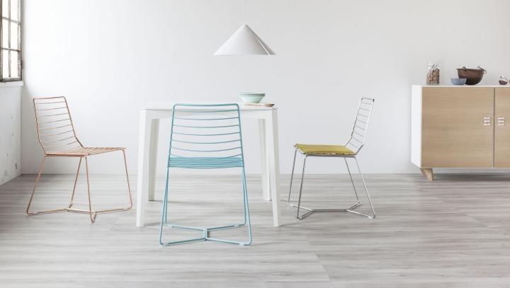 Красивые металлические стулья Antia