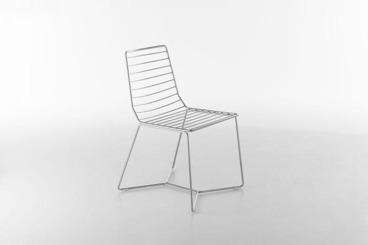 Красивый металлический стул Antia