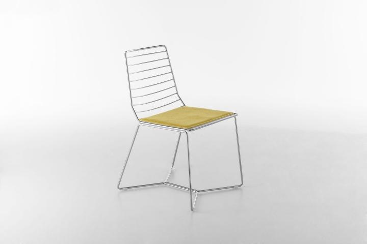 Чудесный металлический стул Antia