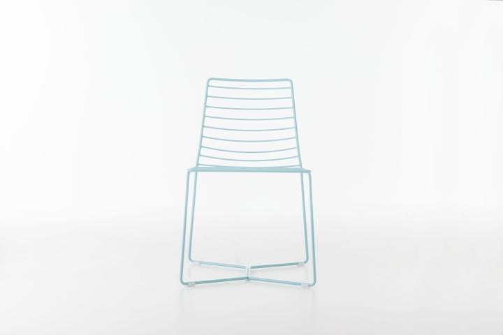 Замечательный металлический стул Antia